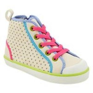 Baby Gap Heart Cut-Out High-top Suede Sneakers